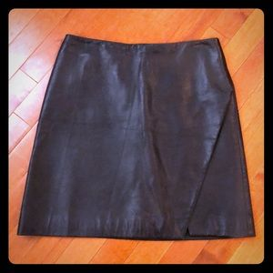 Versus Versace leather mini skirt